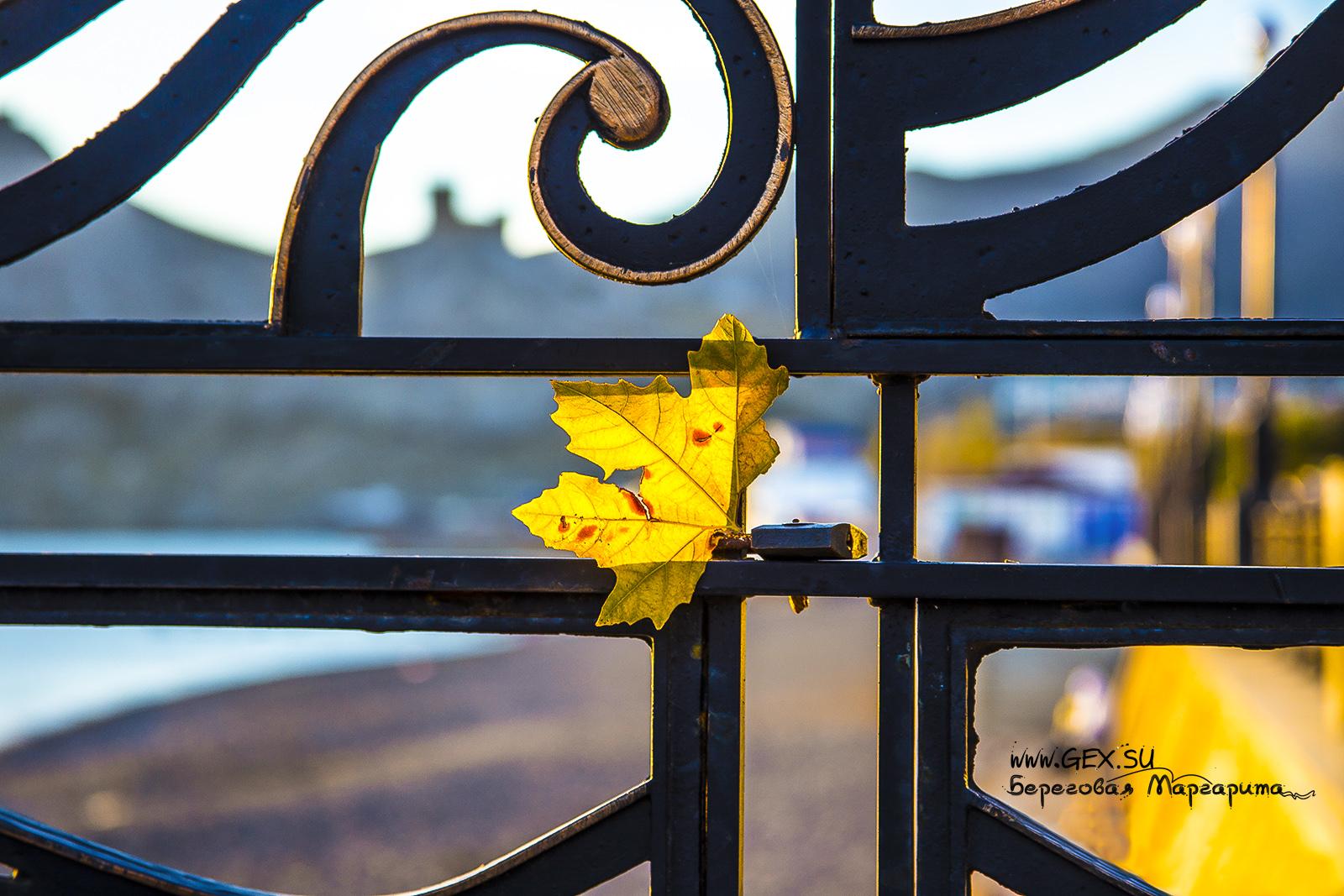 Осенняя набережная судака