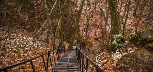 Лестница к источнику Трех Святителей