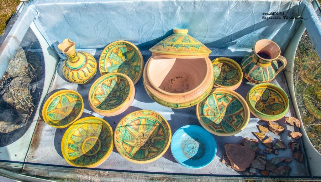 Посуда в Крепости Фуна