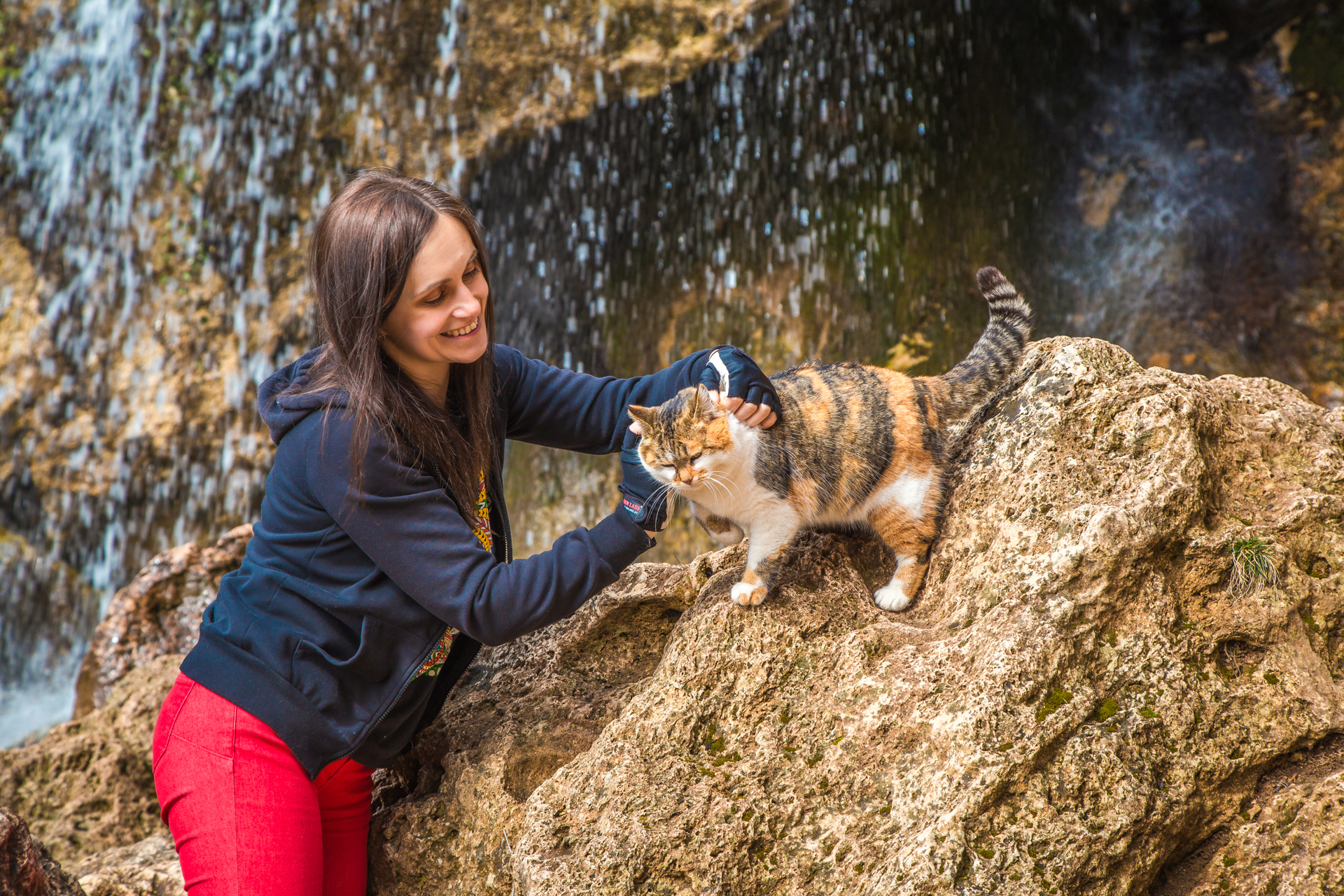 кошка у Водопада Су-Учхан