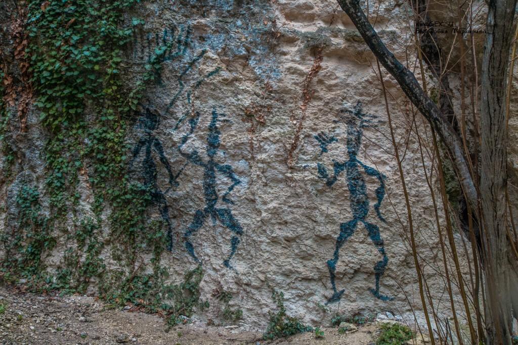 Рисунки на горе Крокодил