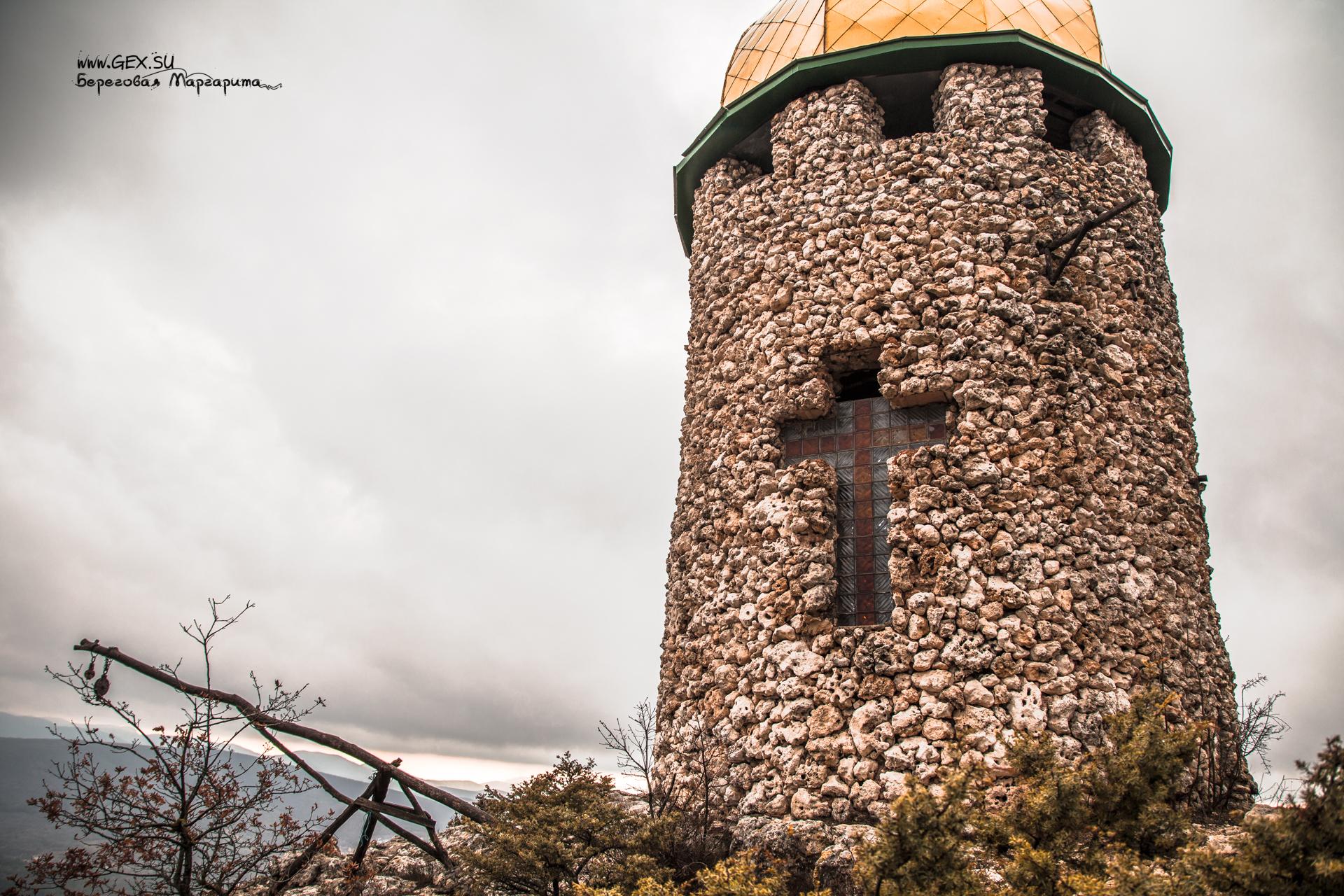 башня в пещерном монастыре Шулдан