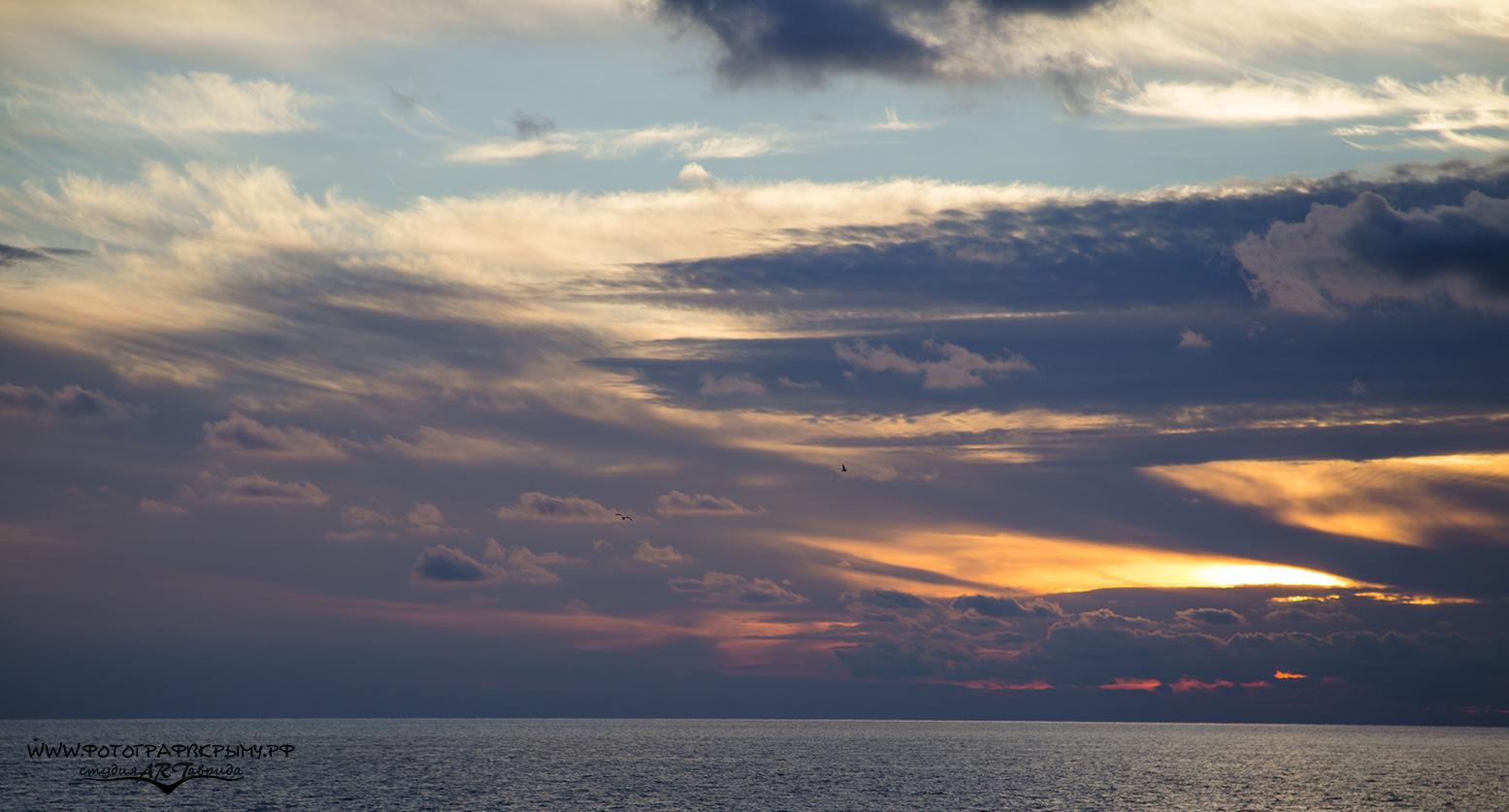 закат в судаке
