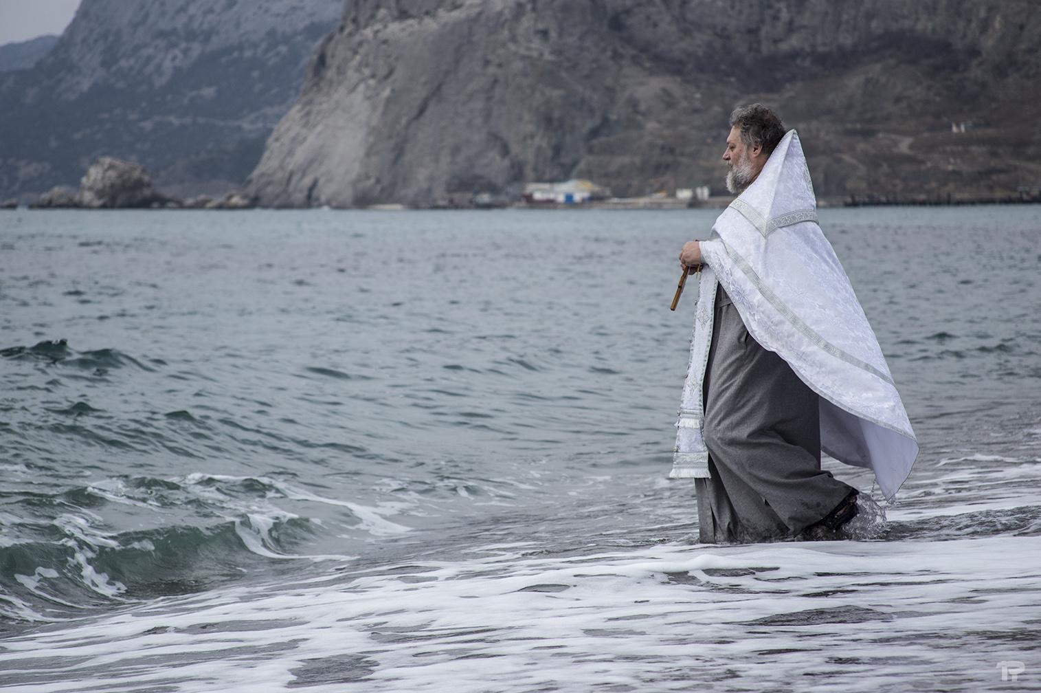 крещение на набережной Судака