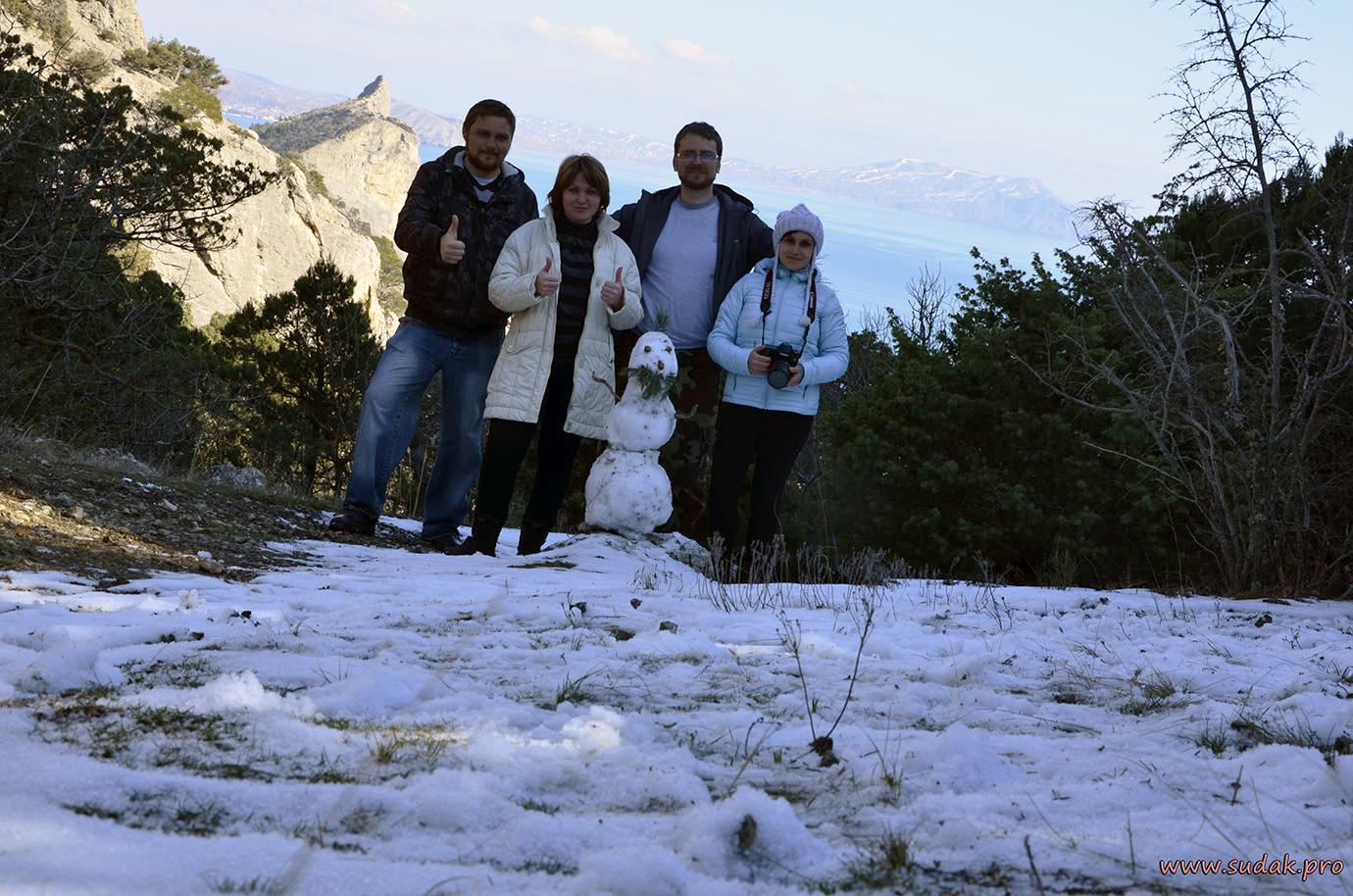 снеговик в новом свете