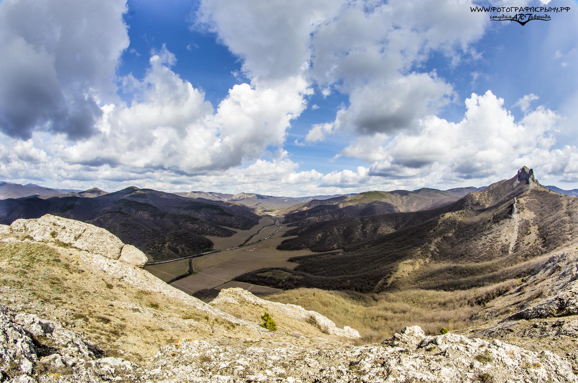 Вид с вершины Таркташа
