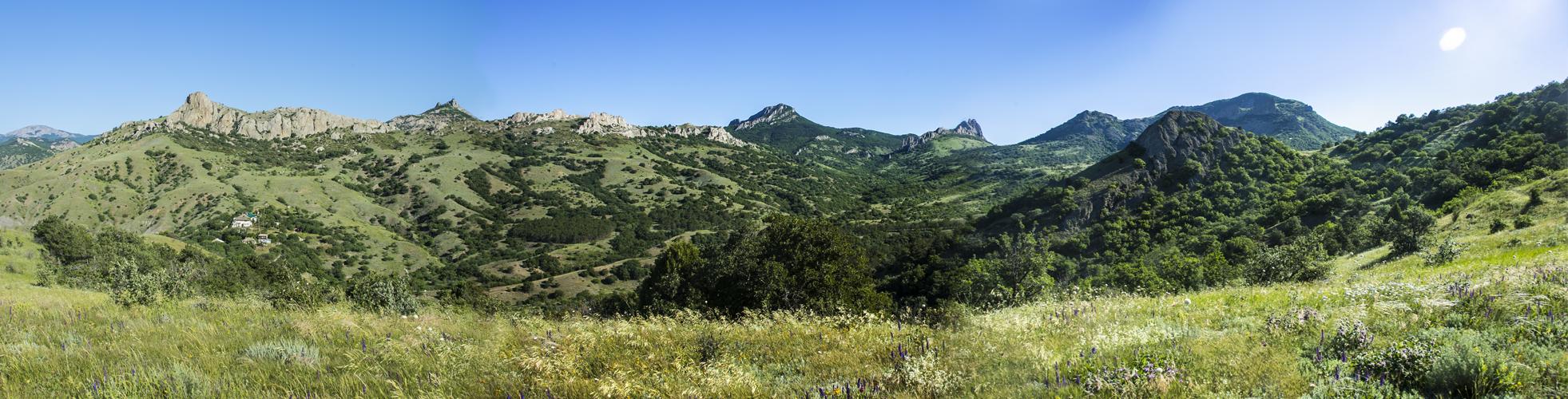 панарама карадагской долины