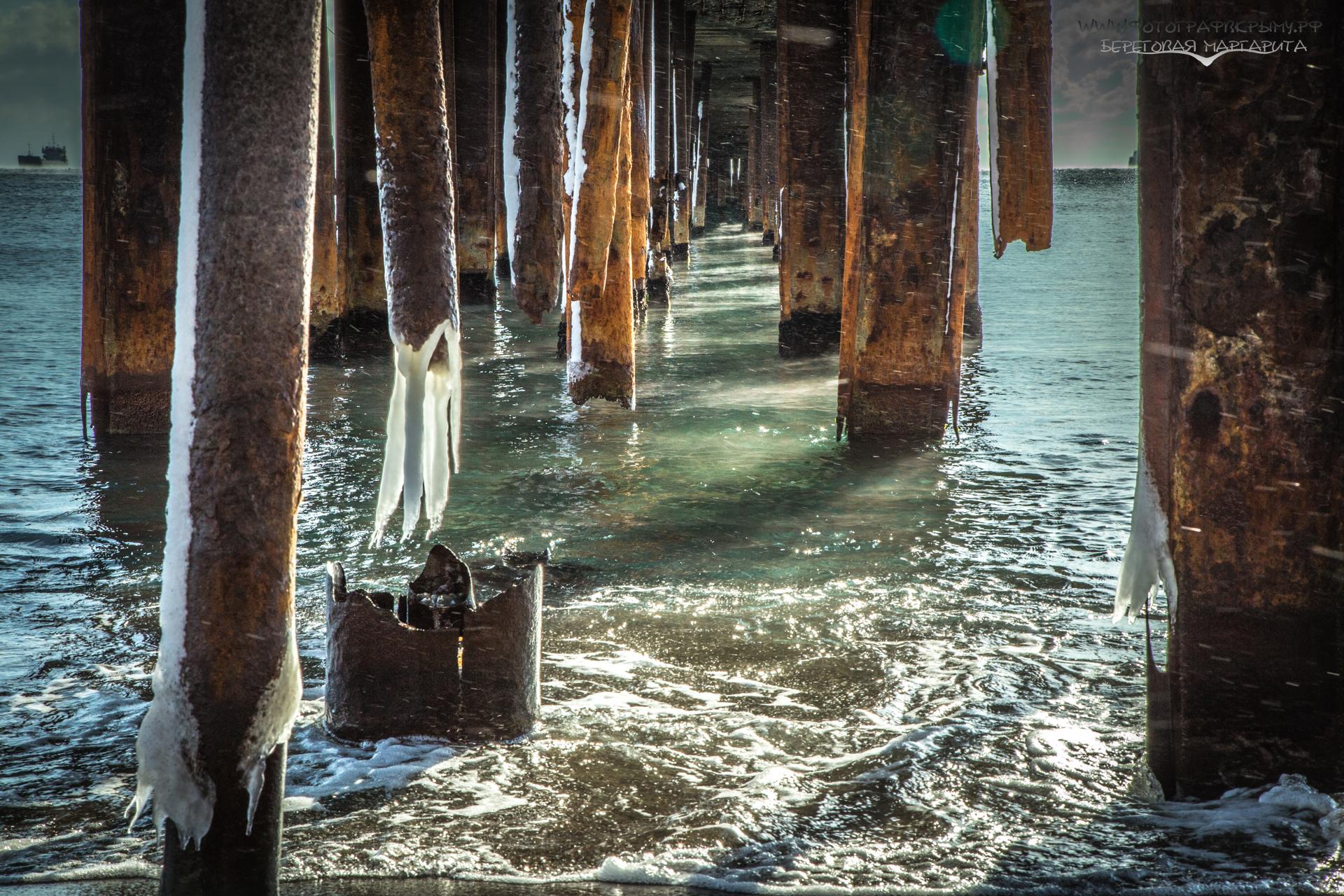зимнее море в судаке