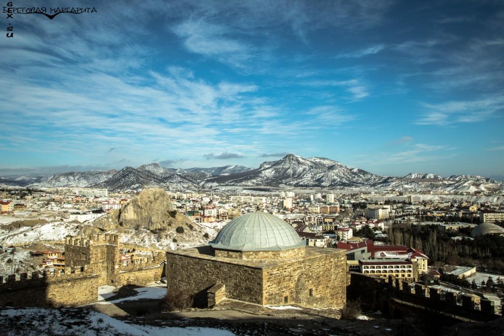 Судакская крепость зимой