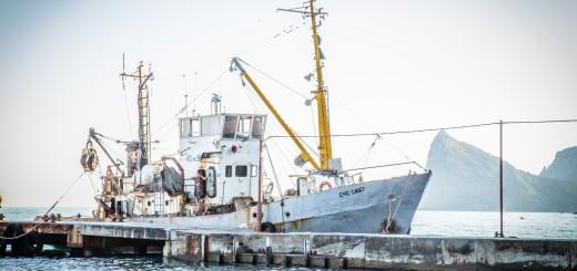 рыбацкий корабль в судаке