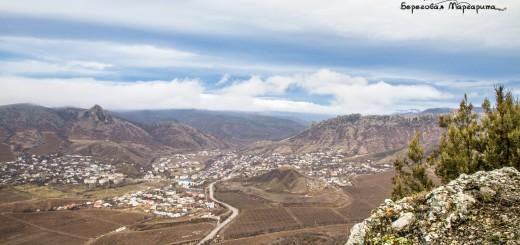 Вид на гору Таракташ и Бакаташ с горы Терс