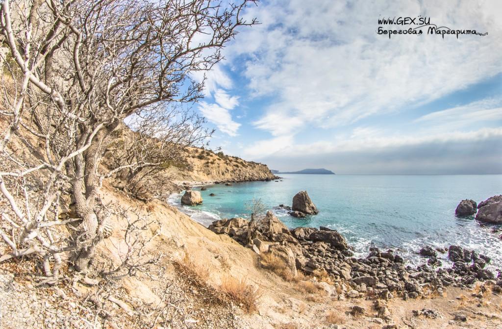 нудистский пляж Бухта Любви в Новом Свете