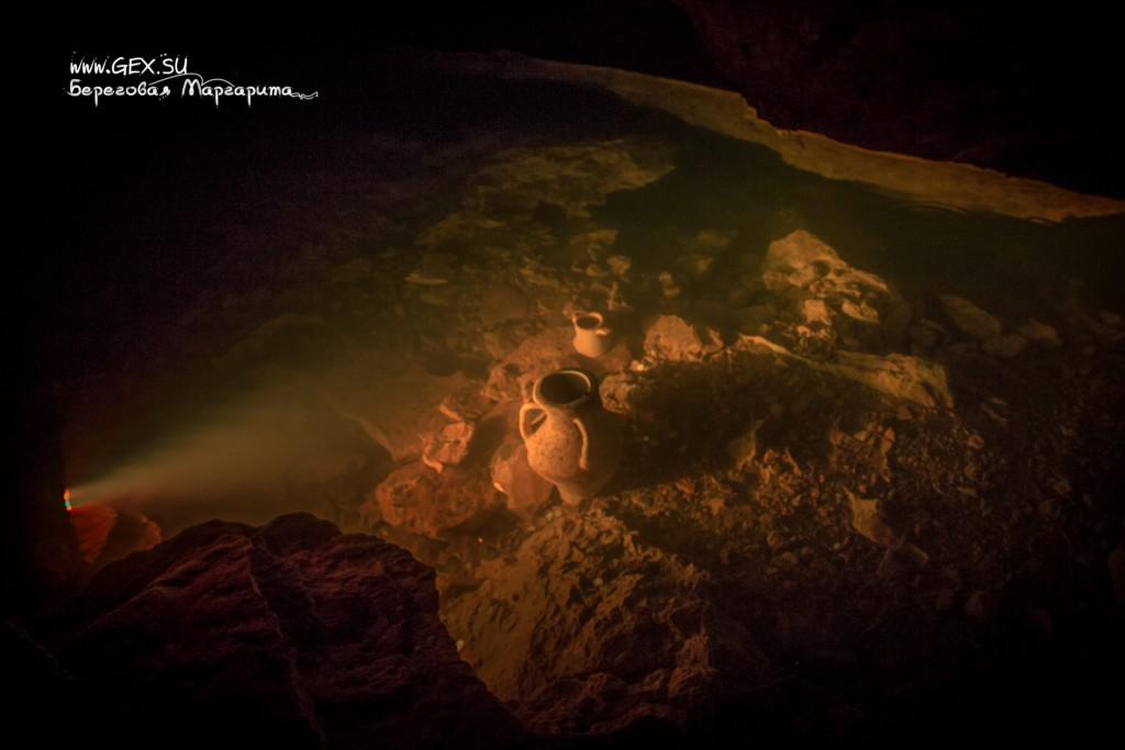 Подземная река в Красной пещере