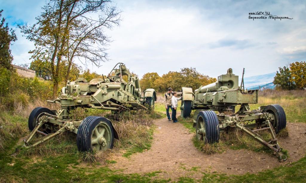 трофейная немецкая артиллерия